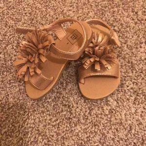 Baby Gap metallic gold sandals